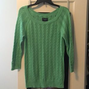 Bright green knitted sweater